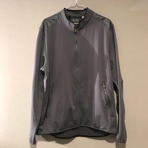 Men's Large Adidas Training Gray Zip Up Jacket